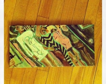 Boutique- Original mixed-media on canvas painting.