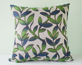Modern accent pillow cover / trees pillow / leaves pillow / branches pillow / pillow case / cushion cover -  18 x 18 inches