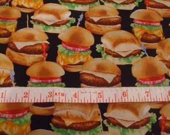 Hamburgers! By the fat quarter.