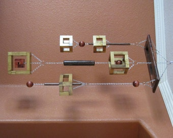 Wood 'Box in a Box' Shapes Mobile