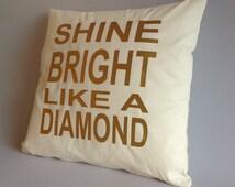 Pillow cover, gold pillow, gold cushion, cushion case, pillows, 16x16, 18x18, 20x20, 24x24, 26x26 shine bright like a diamond