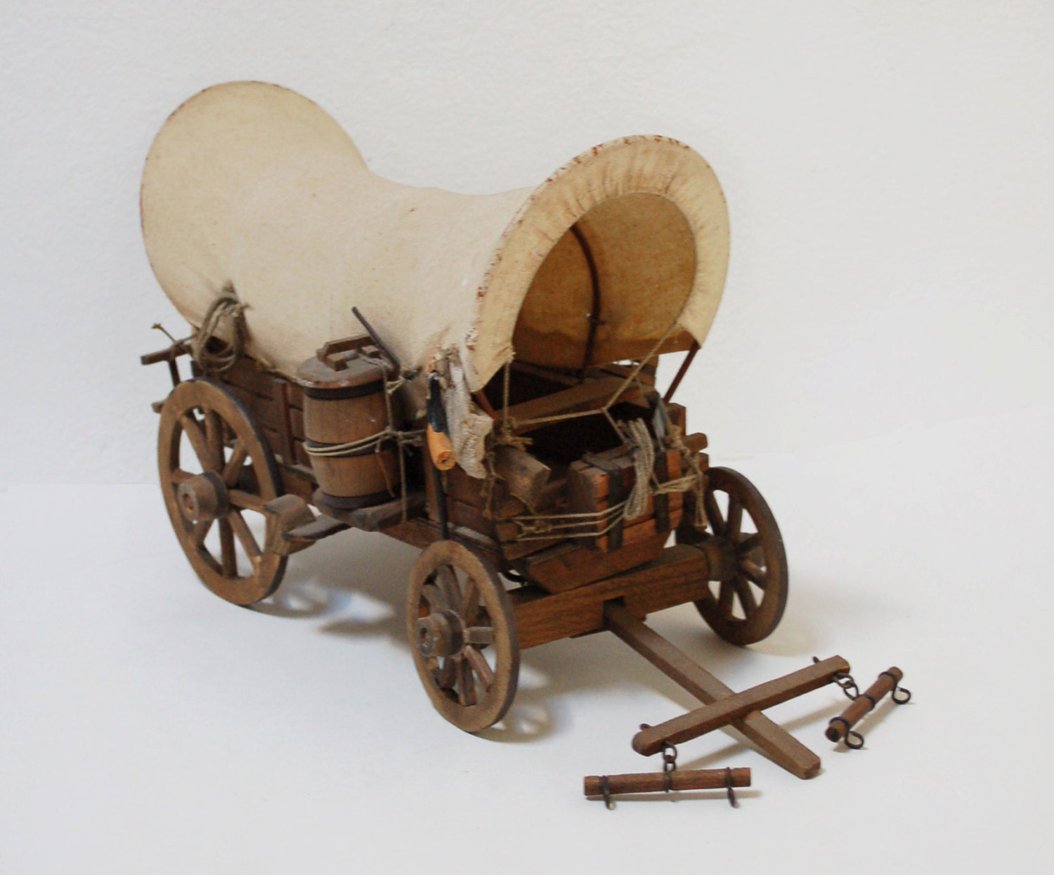 Antique 1900 Covered Wagon Model Old West By Skomoroki