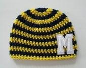University of Michigan Baby, University of Michigan Hat, Wolverine Baby, Michigan Wolverines, Michigan Football, Baby Football, Photo Props