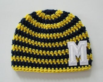 University of Michigan, University of Michigan Baby, Michigan Wolverines, Wolverine Baby, Mens Hats, Womens Hats, Toddler Hat, Photo Props