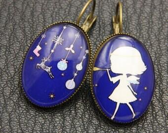 Earrings girl and her dream