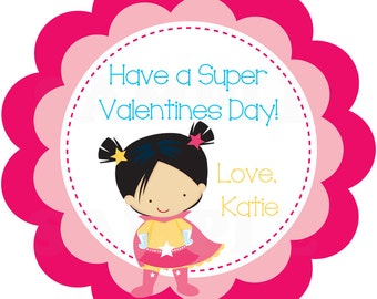 Have a super Valentine's Day- Valentine Day Tags/Sticker - Printable DIY File