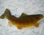 Hand Made Cribbage Board - Rainbow Trout - Hand Made Games