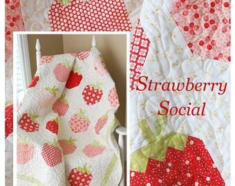 PATTERN: Fat Quarter Friendly - STRAWBERRY SOCIAL - The Pattern Basket