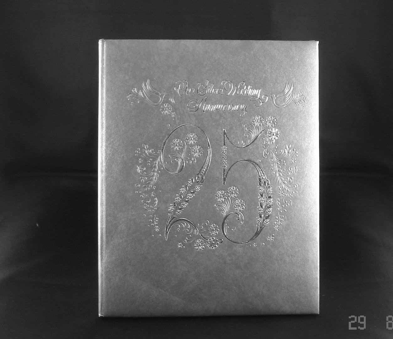 Silver anniversary album th wedding memory book our