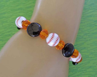 For The Love of the Game SF Giants Baseball Stretch Bracelet FREE USA Shipping