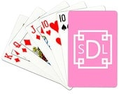 Monogrammed Playing Cards Personalized Deck of Cards Monogram Card Deck Custom Playing Card Choose Colors