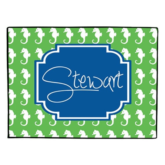 Personalized Coastal Door Mat Custom Monogrammed Doormat