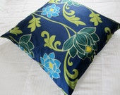 Retro Floor Pillow, Outdoor Floral Pillow Cover, Decorative Throw Pillow 30x30