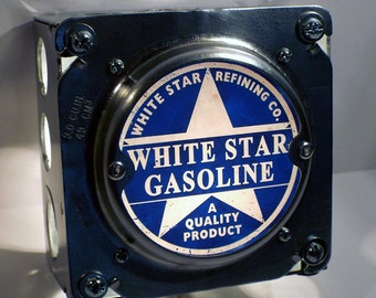 White Star Gasoline Night Light industrial chic