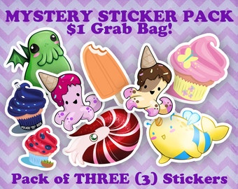 Mystery Grab Bag Sticker Pack!