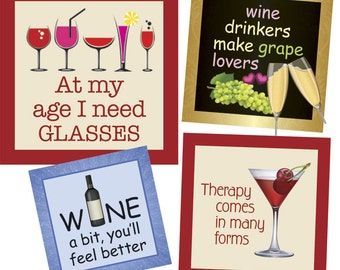 Wine 1 inch squares - Digital Collage Sheet - INSTANT DOWNLOAD