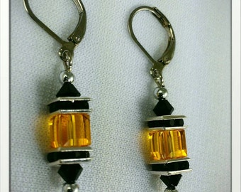 Inspired by the Pittsburgh Steelers Earrings