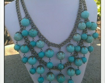 Inspired by 2 Broke Girls Turquoise Necklace