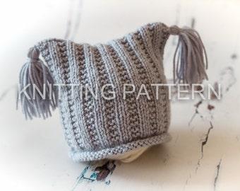 Knitting Pattern/DIY Instructions - Flat Rib Baby Beanie Hat - Easy Knitting