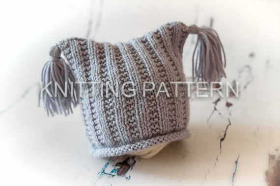 Knitting A Hat Flat : Knitting pattern diy instructions flat rib baby beanie hat
