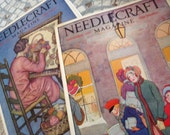 2.... Needlecraft Magazines....1920's...Vintage Table Top or Craft Use