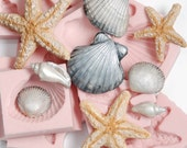 Silicone Seashell Molds Set of 7 Moulds - fondant sea shell molds - soap sea shell molds - candle sea shell molds - chocolate molds  (251)