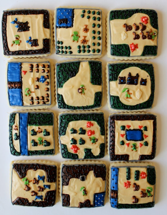 Adventurer / Medieval Video Game Sugar Cookies with Buttercream Frosting