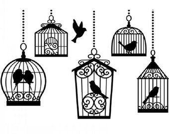 EMBOSSiNG FoLDER - BIRDCAGES with BIRDS INSIDE   - A2 SiZE  **Darice -  In STOcK
