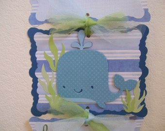 Baby Boy Hospital Door Banner - Boy Blue Whale Door Banner - Baby Boy Whale Banner-  Its a Boy Hospital Door Sign- 3 cards