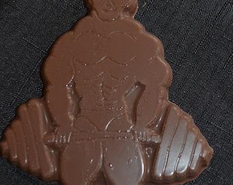 1 Dozen Chocolate Weight  Lifter Lollipops
