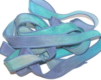 River Dance/Hand Dyed Silk Ribbons/Wrist Wrap Ribbons/Jewelry Supplies/Crystal Beads/Buttons/Ribbon Crimps/Leather Cord/Crimp Covers
