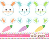 DOLLAR SALE Easter Bunny Rabbit Animal Boy Cute Clip Art - Commercial Use - Scrapbooking Invitations Cards - Instant Download