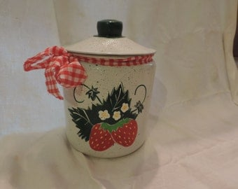 Strawberry cookie jar PERSONALIZED FREE!!