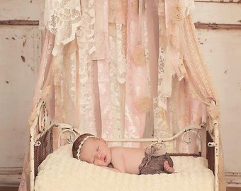 newborn shabby bed canopy photography prop & rudolph netting bed canopy. bedding accessories bed canopies ...