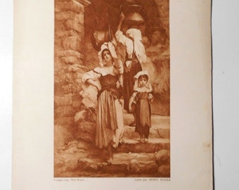Free shipping-Ancient Art Print, , Luxembourg Museum, Paris
