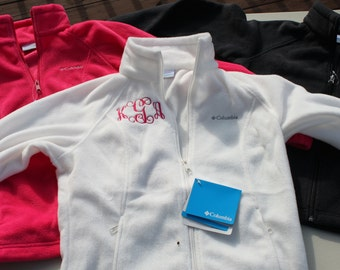 Monogrammed Columbia Fleece Jacket (More Colors Available!!)