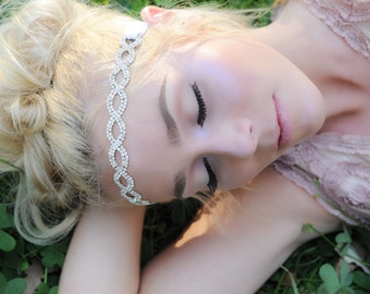 Crystal Headband, Bridal Headband, Vintage Headband,wedding hair piece, rhinestone headband, headband, crystal headband