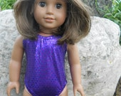 Purple bathing suit for American Girl and 18 inch dolls