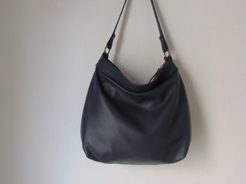 Snap Womens Soft PU Leather Tote Handbag Slouchy Hobo Shoulder ... 9639262690ed3