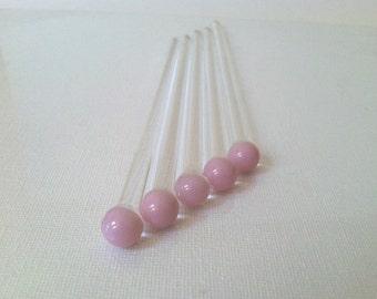 Swizzle Sticks, Stir Stick, Glass Rod 5 pack made of Borosilicate