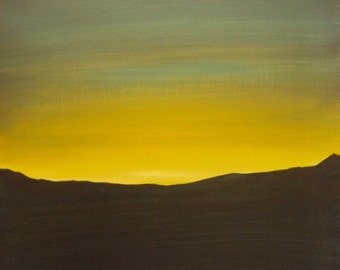 20X20 Golden Sky of the Rising Sun Painting