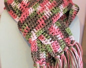 Scarf pink camo rose, warm, FREE SHIPPING beautiful scarf