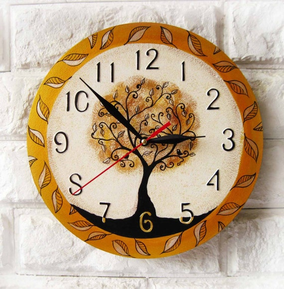 The Magic Tree  Wall Clock Home Decor for Children Baby Kid Boy Girl Nursery Playroom, wall clocks handmade