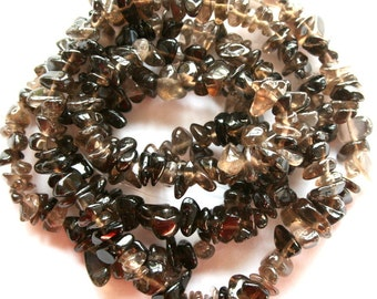 Smoky Quartz Gemstone Chip Beads