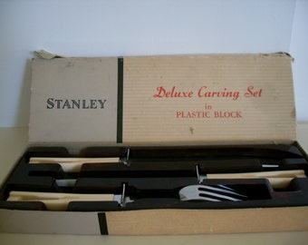 Vintage Art Deco Stanley Carving Set