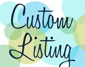 Glitter covered decor number. Coushi Custom Listing