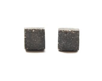 Square Concrete Cuff Links
