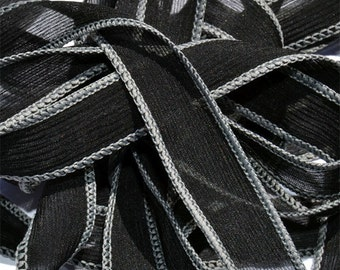 Charcoal   42 inch silk ribbons, 5 pack, By Color Kissed Singles