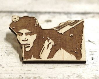 Limited Edition - Dan Aykroyd - Ray Stanz - Ghostbusters - Engraved Brooch - Key Ring