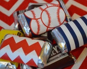 INSTANT Download Baseball Printable Miniature Candy Bar Wraps - Please Read Description Thoroughly